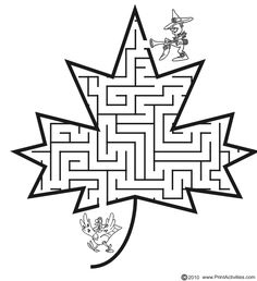Fall Maze - leaf shape