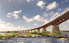 Arkansas River pedestrian bridge