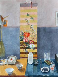 MARJATTA HANHIJOKI Japanilainen Kukkamaalaus (Japanese Flower Painting, 2005) Finland, Watercolor, Painting, Japanese, Flower, Art, Pen And Wash, Art Background, Watercolor Painting
