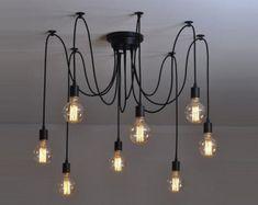 Spider chandelier 6-12 Pendant light Industrial Lighting Industrial Chandelier Hanging light pendant lighting industrial lamp Octopus lamp