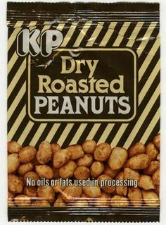 KP Dry Roasted Peanuts packet from the Retro Recipes, Vintage Recipes, Real Food Recipes, 80s Food, Retro Food, Vintage Food, 80s Party Foods, British Sweets, Retro Sweets