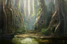Forest Ruins by jjpeabody.deviantart.com on @DeviantArt