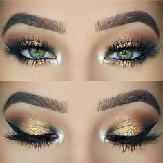 Gold shimmer eyeshadow