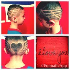 Barber Hair Designs Kids Cuts Hearts Angel Wings Valentines Day Love Elias Frank