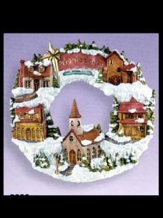 Ceramic Bisque Village Wreath, U Paint #Scioto