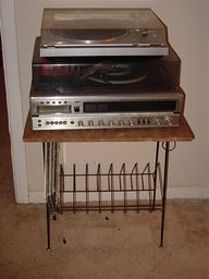 record player, this one is cool it's got a cassette player too