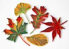 All the fall leaves together! Happy Autumn. #quilling JUDiTH+ROLFE