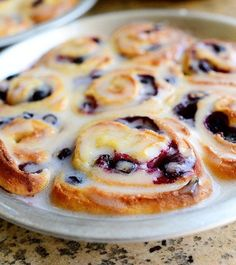Lemon-Blueberry Sweet Rolls