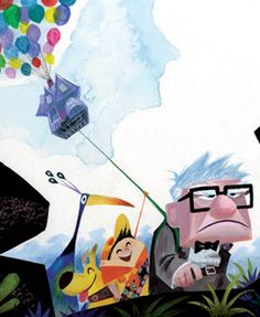 """""""Discover a Lost World""""  Concept art from Disney Pixar's UP!"""