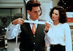 Harold Ramis and Sigourney Weaver in Ghostbusters II 1989