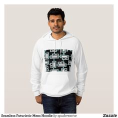 Seamless Futuristic Mens Hoodie - Stylish Comfortable And Warm Hooded Sweatshirts By Talented Fashion & Graphic Designers - #sweatshirts #hoodies #mensfashion #apparel #shopping #bargain #sale #outfit #stylish #cool #graphicdesign #trendy #fashion #design #fashiondesign #designer #fashiondesigner #style