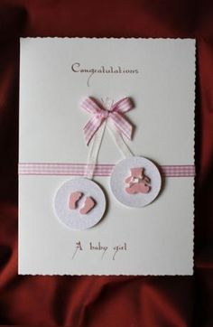 Could be modified for twins. Glitter Baubles Embellished With a Teddy and Diamantees Baby Girl Cards, New Baby Cards, Karten Diy, Baby Shower Invitaciones, Baby Shower Cards, Congratulations Card, Baby Scrapbook, Paper Cards, Kids Cards