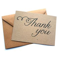 set of 12 thank you script note cards by dig the earth | notonthehighstreet.com