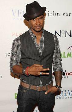 Inspo :: Usher in a grey pinstriped vest
