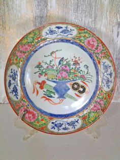 Porcelain Chinese Famille Rose Pattern Plate by ValleyVintageLA, $175.00
