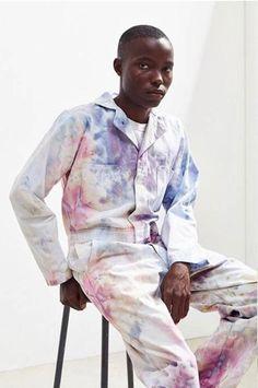 COVERALLS in Pastel New Man Clothing, Diy Clothing, Unisex Fashion, Mens Fashion, Fashion Outfits, Janis Joplin, Vivienne Westwood, Moda Punk, Tie Dye
