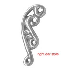 Sterling Silver Swirl Ear Stud-Helix/Cartilage Barbell-16g or 18g