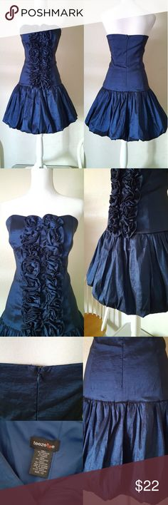 Royal Blue Formal Dress Only worn once. Like new condition! Tag says size 13 but fits like a size 8.  - armpit to armpit: 17.5 in - waist: 15.5 in - length: 28.5 in. Teeze Me Dresses Prom