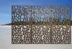decorative wood or metal screens