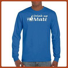 2568bd3d6b AW Fashion's Drink up Mate - Cool Shirt Men's Long Sleeve Tee (X-Large