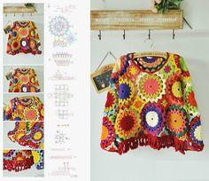 Patrones Crochet: Composicion Formas Geometricas Crochet