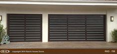 Ranch House Doors Wood Garage Doors, House Doors, Curb Appeal, Blinds, Ranch, Curtains, Furniture, Home Decor, Wooden Garage Doors