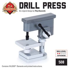 Lego vertical drill from BRICKMANIA.