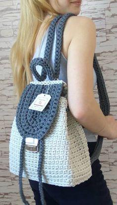 49 Lovely And Sweet Crochet Bags Pattern Ideas for This Year Part crochet bag pattern; Crochet Backpack Pattern, Bag Pattern Free, Crochet Tote, Bag Patterns To Sew, Crochet Handbags, Crochet Purses, Knit Crochet, Crochet Patterns, Pattern Ideas