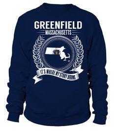 Greenfield, Massachusetts Its Where My Story Begins T-Shirt #Greenfield