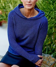 Loving this Grace Project Violet French Terry Hoodie on #zulily! #zulilyfinds