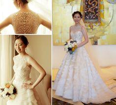 Beaded-illusion-neckline-wedding-dress