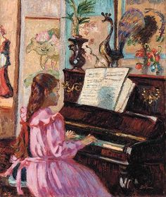 Armand Guillaumin    Young Girl at the Piano    1910