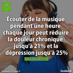 Écouter de la musique pendant une heure chaque jour peut réduire la douleur chronique jusqu'à 21% et la dépression jusqu'à 25% | Saviez Vous Que?