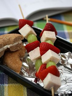 Healthy Snacks for Hungry Toddlers - Fun Fruit Kebabs