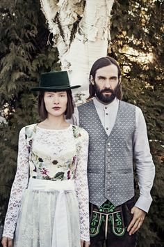 JAN&INA Designer Dirndl & Trachten Kollektion H/W 2015 › JAN&INA Trachten Folk Fashion, Vintage Fashion, Countryside Fashion, Pastel Floral, Cool Hats, Mori Girl, Lovely Dresses, Traditional Outfits, Looking For Women