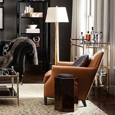 Carter Club Chair | Williams-Sonoma  in camel for LIVING ROOM