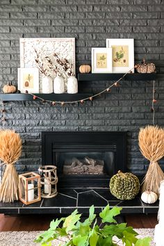34 Popular Mantel Decorating Ideas To Get Comfortable Living Room - Mantel decorating ideas that compliment the fireplace might very well be the focal point of your room. If you have a fireplace, the mantel will be a d. How To Make Christmas Tree, Cone Christmas Trees, Grey Fireplace, Fireplace Mantels, Fall Mantels, Fireplace Ideas, Painted Fireplaces, Brick Fireplaces, Mantle Ideas
