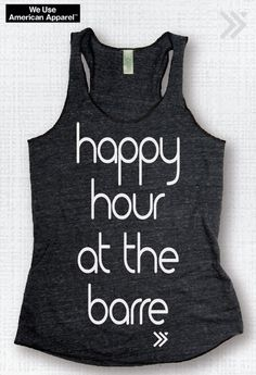 Happy Hour at the Barre Charcoal / White Workout Eco by everfitte