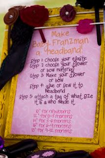 Cute cute cute baby girl shower idea. Like this and the decorate a onesies idea