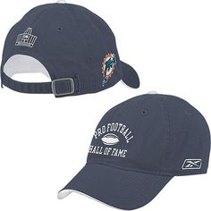 Pro Football Hall of Fame Miami Dolphins Arch Logo Hat by PRO FOOTBALL HALL OF FAME. $24.99. Officially licensed Made in China. Arched Pro Football Hall of Fame® graphic embroidered on the crown. Adjustable strap and buckle closure Decorated in the team colors 6 sewn ventilation eyelets. 100% cotton. Outline of the Pro Football Hall of Fame® building embroidered on the backFull-color team logo embroidered on the right side of the cap. You can support the Miami Dolphins and ...