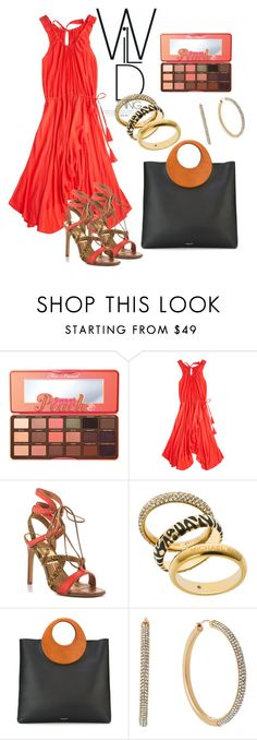 """""""#animalprints"""" by fashionlibra84 ❤ liked on Polyvore featuring Too Faced Cosmetics, Calypso St. Barth, Dolce Vita and Michael Kors"""