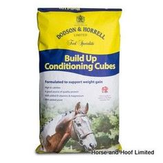 Dodson Horrell Build Up Cubes 20kg Dodson Horrell Build Up Cubes Slow-release energy sources such as digestible fibre and oil are combined with  micronised cereals and fully supplemented with vitamins and minerals to help horses gain weight whilst minimising the risk of excitability.