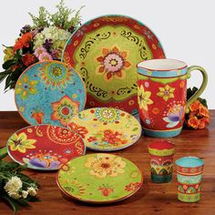 "Found it at Wayfair - Tunisian Sunset 4 Piece 8.75"" Salad Plate Set"
