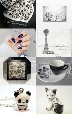 Black and White... by Lizzy and Boo on Etsy--Pinned with TreasuryPin.com