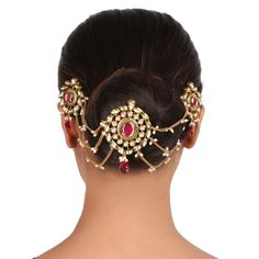 Kundan Hair brooch ACHPIN6 #Kushals #Jewellery #Fashion #Indian #Jewellery #HairBroochs #WeddingAccessories #Kundan #Festive