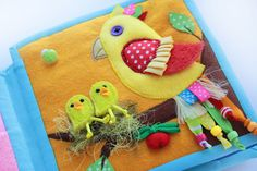 Handmade by mom: Adorable Parrot Quiet Book Page.