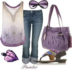 Beaded Tank, created by mels777 on Polyvore