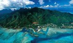 The InterContinental Moorea Resort & Spa is nestled between scenic mountains and a tropical lagoon.