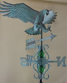 Beautiful Copper Eagle Weathervane.antique Finish