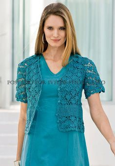 Pretty sampler bolero   -Lee Ann H  Crochetgottaloveit.blogspot.com  Http://cgli.us
